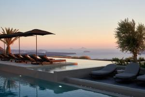 The swimming pool at or near OMMA Santorini