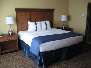 A bed or beds in a room at Holiday Inn Montgomery South Airport, an IHG Hotel