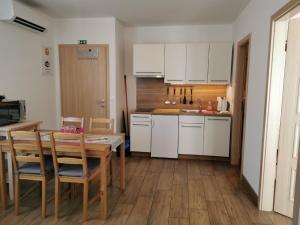 Kuhinja oz. manjša kuhinja v nastanitvi Apartments Maraž