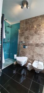 A bathroom at The Bronze Pig