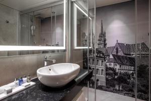 A bathroom at Radisson Blu, Basel