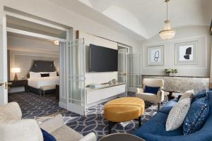 A television and/or entertainment center at Fairmont Hotel Vancouver
