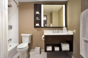 A bathroom at Hilton Chicago