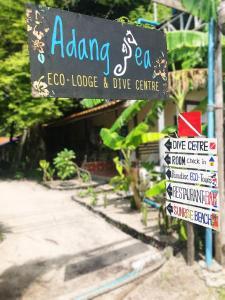 Ein Zertifikat, Auszeichnung, Logo oder anderes Dokument, das in der Unterkunft Adang Sea Divers & Eco Lodge ausgestellt ist