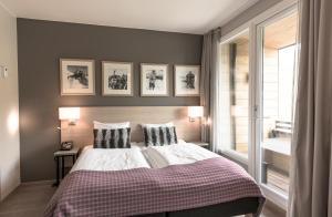Ein Bett oder Betten in einem Zimmer der Unterkunft Myrkdalen Resort Hotel
