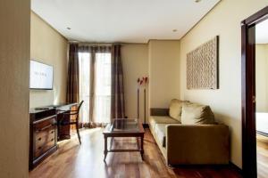 A seating area at Hotel Villa Real