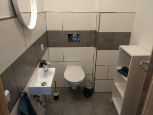 Ein Badezimmer in der Unterkunft Storchennest an der Spree in Radinkendorf