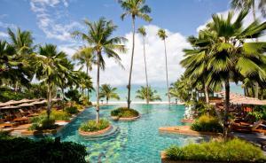 A garden outside Anantara Bophut Koh Samui Resort