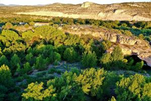 A bird's-eye view of Cave, Yurt, Bubble and Other Glamping Adventures