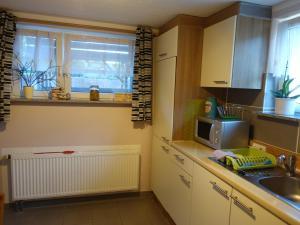 A kitchen or kitchenette at Ferienwohnung Jena-Zoellnitz