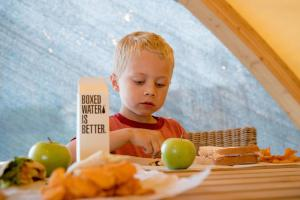 Children staying at Under Canvas Yellowstone