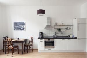 Küche/Küchenzeile in der Unterkunft Ferienwohnung Leipzig-Zentrum