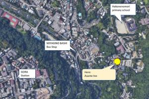 A bird's-eye view of Onsen & Garden -Asante Inn-