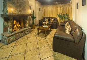 A seating area at Hotel Santa Cruz