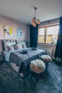 Posteľ alebo postele v izbe v ubytovaní Stylish apartments at Penati Golf Resort