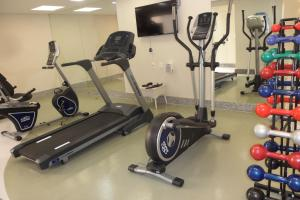 The fitness center and/or fitness facilities at Royal Golden Hotel - Savassi