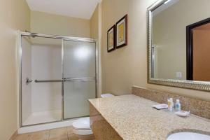 A bathroom at Comfort Suites Southfield