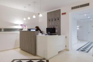 The lobby or reception area at Villa Piedimonte