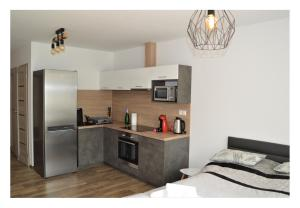 Kuchyňa alebo kuchynka v ubytovaní SGL apartments Lavickova