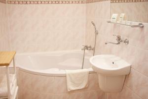 A bathroom at Hotel Pod Orłem