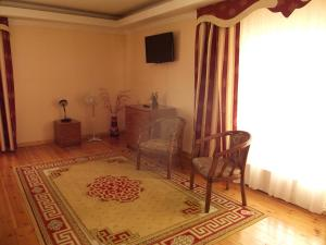 A seating area at Galas Hotel