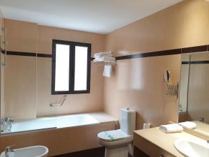 A bathroom at Hotel Suite Camarena