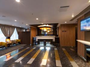 The lobby or reception area at APA Hotel Sendai Kotodai Koen