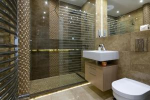 Vonios kambarys apgyvendinimo įstaigoje Yourplace Central Apartments