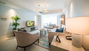 A seating area at Tianfu Square Serviced Suites by Lanson Place
