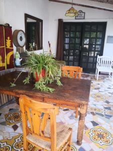 Zona de comedor en the country house