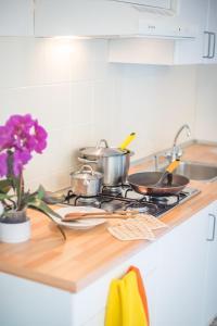 Cucina o angolo cottura di Agriturismo Trefrutti
