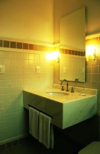 A bathroom at Planalto Hotel