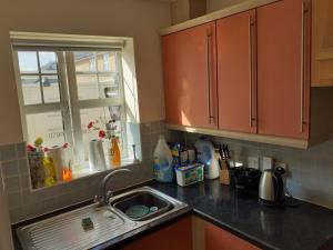 A kitchen or kitchenette at Double Room in Honiton House