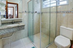 Um banheiro em Pousada Kindermann