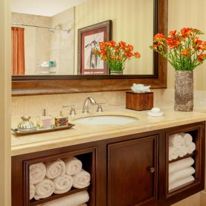 A bathroom at Rustic Inn Creekside