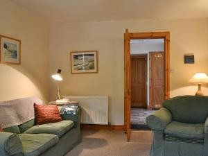 A seating area at Ferniehaugh Cottage