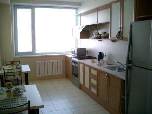 Кухня или мини-кухня в Хинотель
