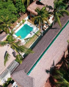 A view of the pool at Hiraya Surf Hostel or nearby