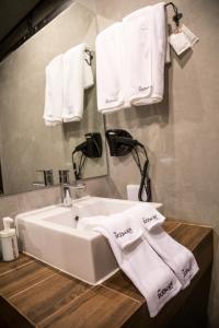 A bathroom at The Rodman Hotel