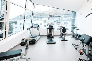 Das Fitnesscenter und/oder die Fitnesseinrichtungen in der Unterkunft Hotel Manggei Designhotel Obertauern