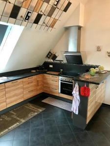 Küche/Küchenzeile in der Unterkunft Top Ferienwohnung 125 m² in Salem