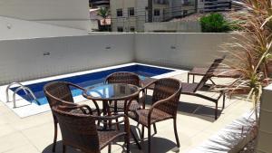 A balcony or terrace at Apartamento Edifício Edécio Lopes