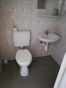 A bathroom at Indóház Kishotel