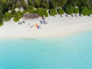 Een luchtfoto van Velassaru Maldives