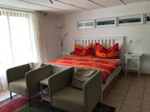 Ein Bett oder Betten in einem Zimmer der Unterkunft Chalet Murmeli