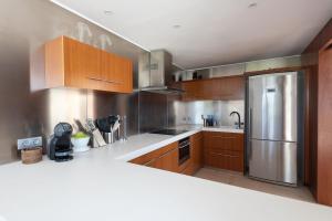 A kitchen or kitchenette at VILLA CAP D´EN FONT