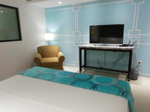 Телевизор и/или развлекательный центр в Hotel Green 16