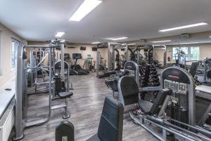 Fitness centrum a/nebo fitness zařízení v ubytování Wellness Hotel Step
