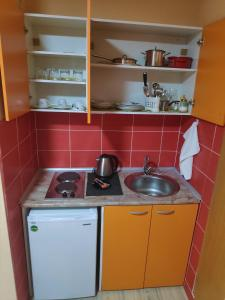 A kitchen or kitchenette at Apartments LAVO