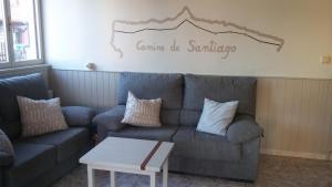 Zona de estar de Hotel El Sueve